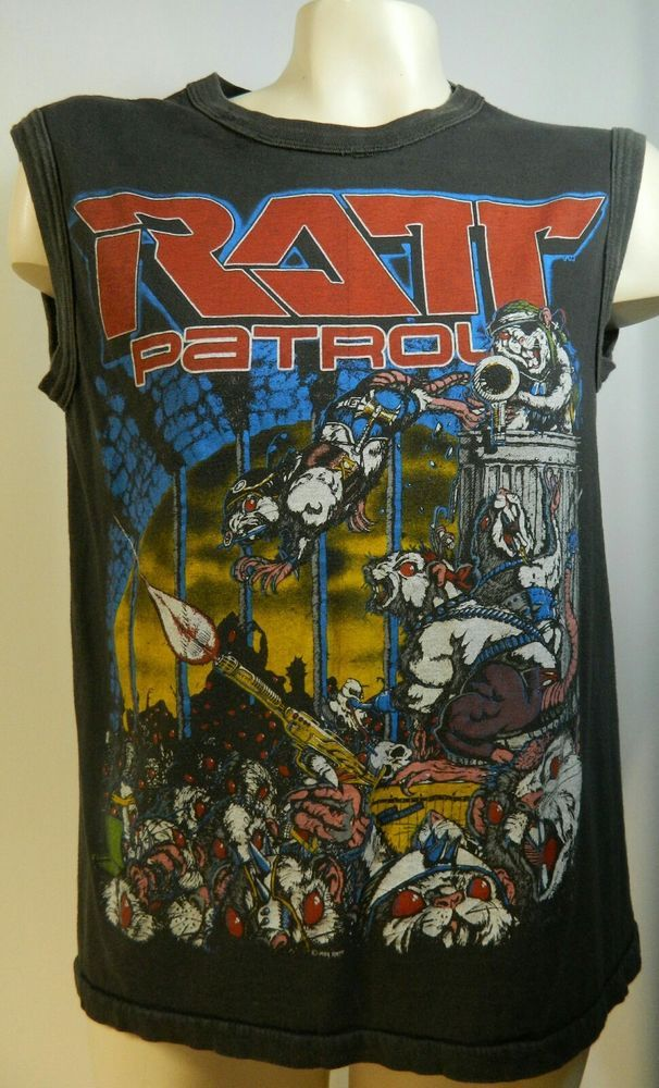 Ratt AUTHENTIC Vintage 1984 Out of the Cellar Tour Concert Shirt Sleeveless MED