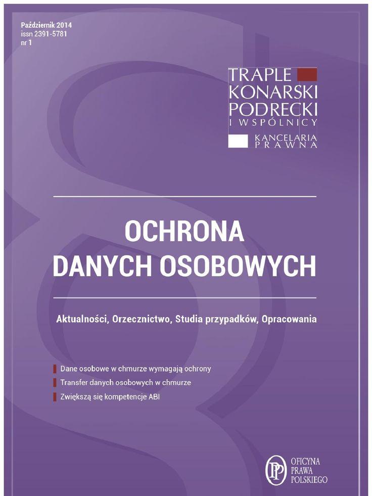 Ochrona danych osobowych wydanie pazdziernik 2014 r - ebook