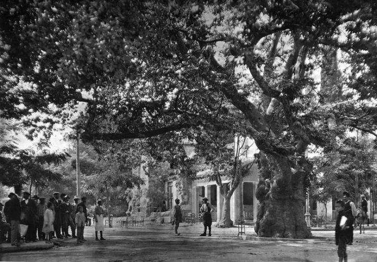 Kifissia, a northern suburb of Athens, Greece by Fred Boissonas, 1920