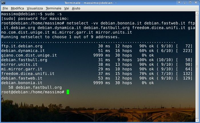 A simple command for to choose the best #Debian #Repository - Come scegliere il miglior Repository Debian
