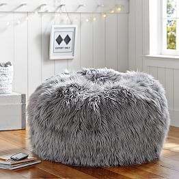 Gray Fur-Rific Beanbag
