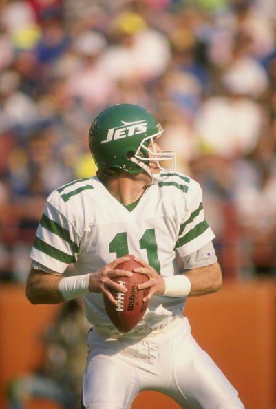 2ec5957301e Quarterback Tony Eason of the New York Jets #NFLQuarterbackClub  #nflfootballclub