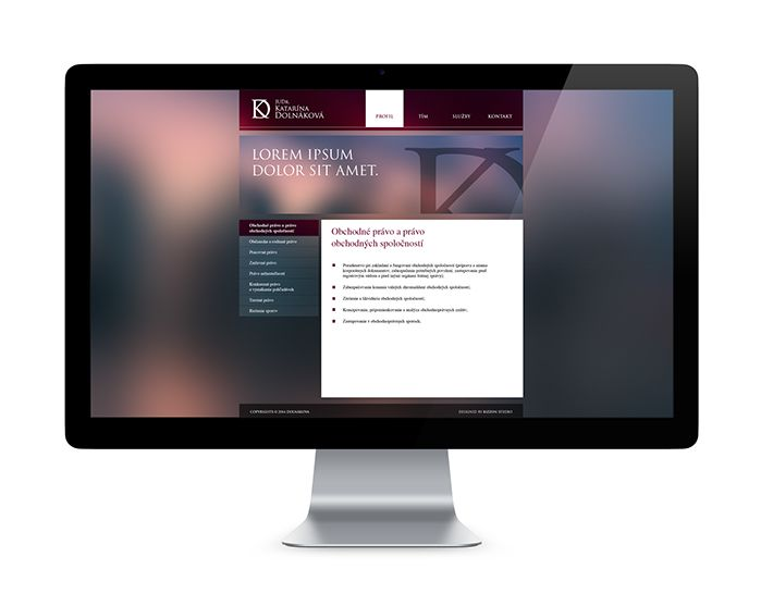 Webdesign for Law Firm