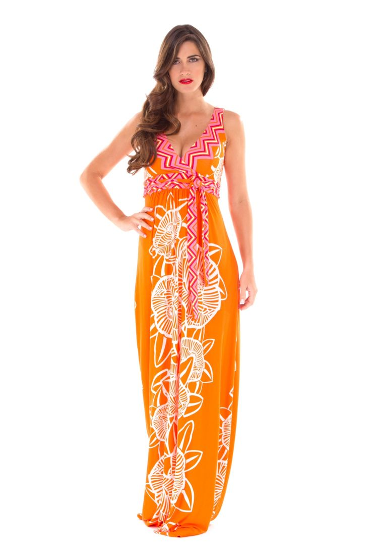 21 best maternity labels we love images on pinterest maternity emma maxi maternity dress in orange pink floral ombrellifo Gallery