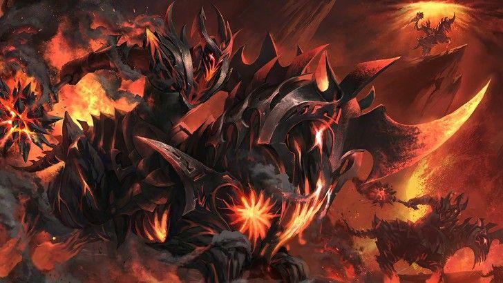 Chaos Knight Dota 2 Loading Screen Burning Nightmare Set Wallpaper