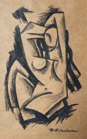 Robert Sabala Original Cubist Drawing Signed, Dated 1991 | Modernism