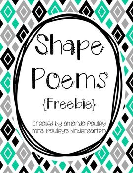 Double Dipping - Shape Poems {Freebie}