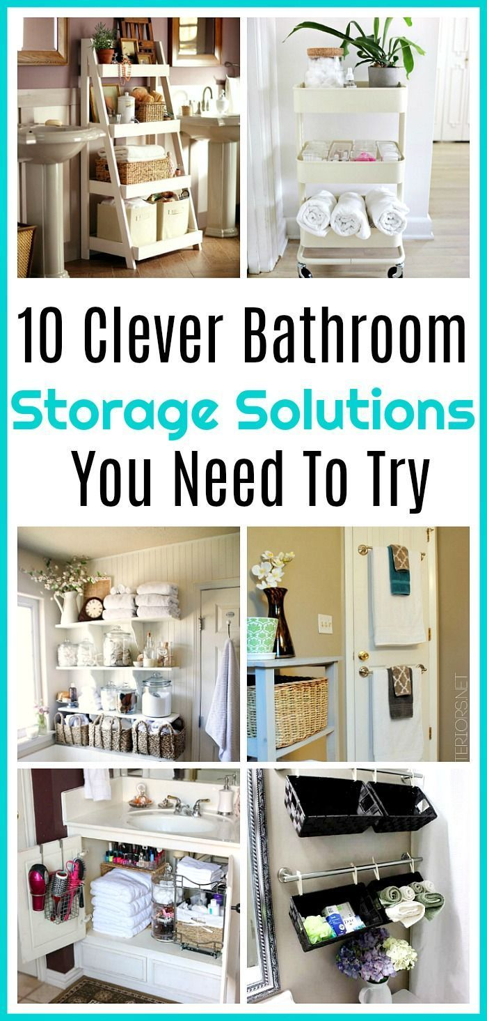Bathroom Storage Solutions - 10 Clever Ideas You Need To Try ...