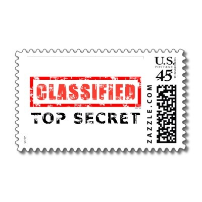 Classified Top Secret Postage Stamps by politix