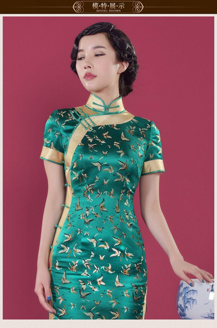 346 best Cheongsam images on Pinterest   Chinese dresses, Cheongsam ...