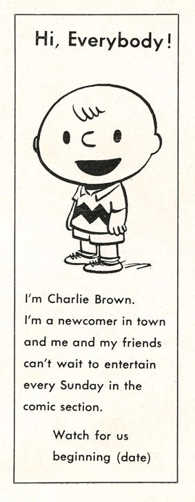 …..Peanuts by Charles M. Schulz….