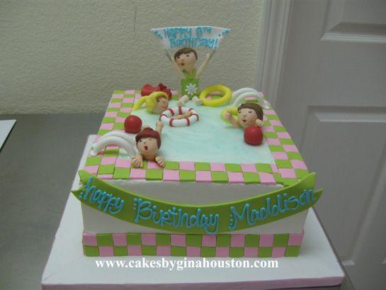 Pool party cake idea