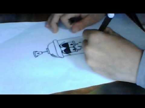 Tuto Dessiner Une Bombe De Peinture Graff Bombe Dessiner