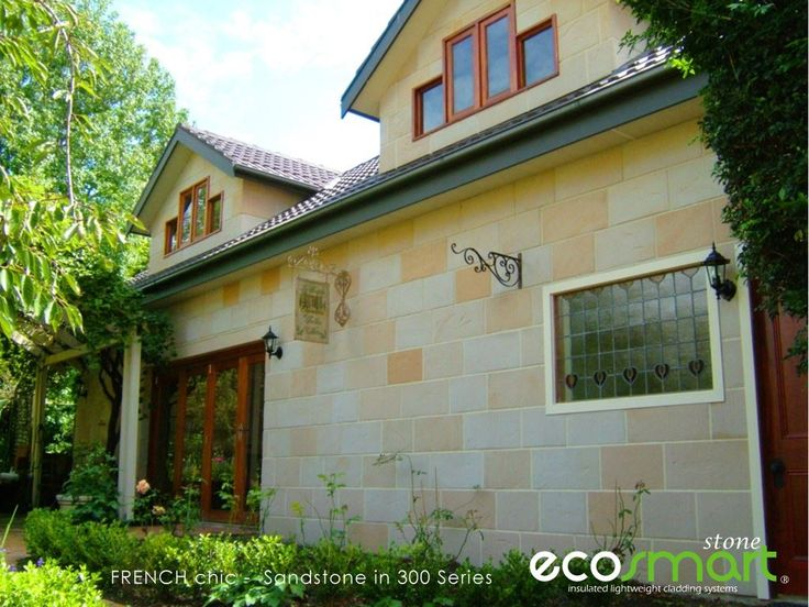 Create BEAUTIFUL French style with Sandstone CLADDING Veneer from ECO Smart Stone. Truly GORGEOUS. Love Stone.