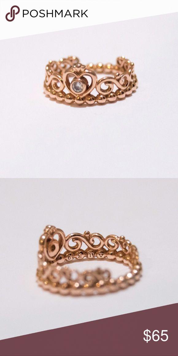 """II PANDORA II ROSE GOLD II TIARA Rose gold """"my princess tiara ring"""" Pandora Jewelry Rings"""
