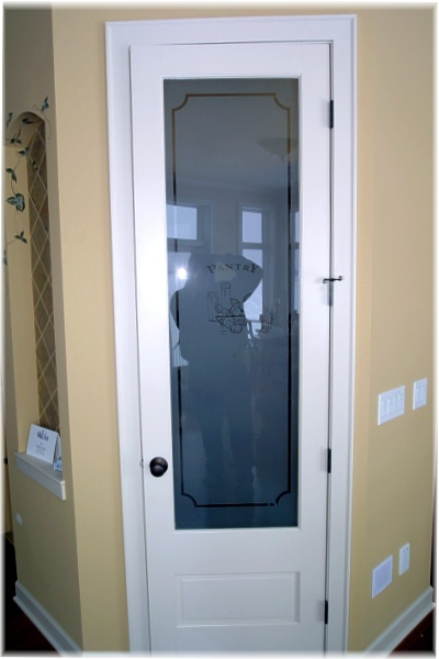 The Frosted Glass In The Designer Kitchen Pantry Door Adds