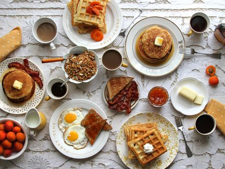 :: Brunch recipes, tips, and tools.  Brunch: n. The universally acknowledged pleasure that is sitting down to a sweet and savory meal aided by copious amounts of beverages (usually caffeinated or alcoholic). Example: the following recipes, tips, and attire.