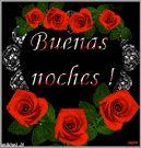 Buenas noches con rosas de colores