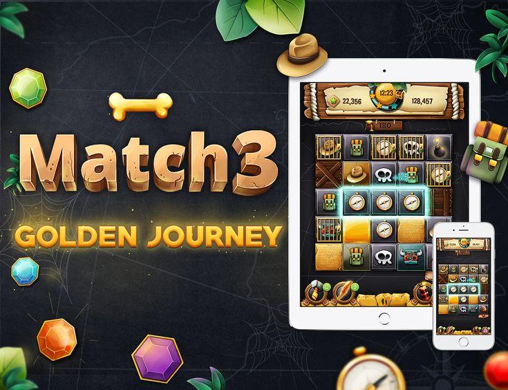 다음 @Behance 프로젝트 확인: \u201cMatch 3 - Golden Journey\u201d https://www.behance.net/gallery/45490567/Match-3-Golden-Journey