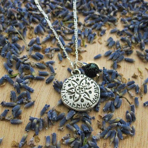 Mandala Aromatherapy Necklace