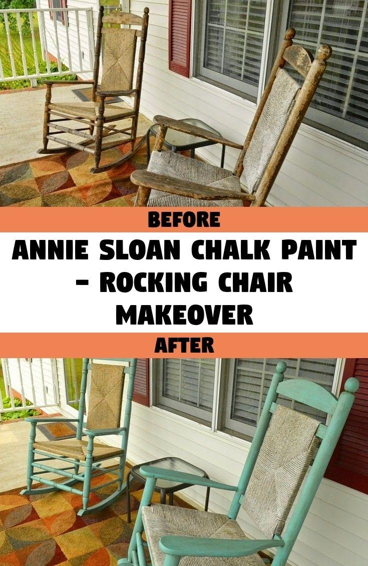 Annie Sloan Chalk Paint Rocking Chair Makeover in 2020