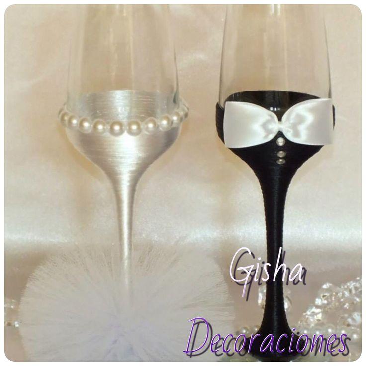 Gisha decoraciones te ofrece el mejor diseño para tus copas de novios que se ajuste a tu presupuesto y lo mejor que sea tu propio estilo Llámanos y pide tu presupuesto  Totalmente GRATIS  680133097-654221375