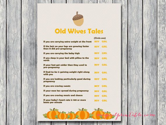 old wives tales baby gender prediction Little by MagicalPrintable
