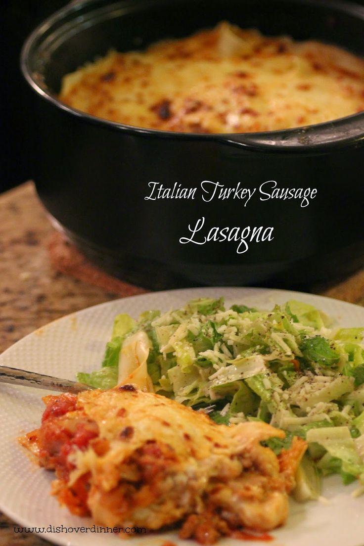 RockCrok Italian Turkey Sausage Lasagna | Dish Over Dinner