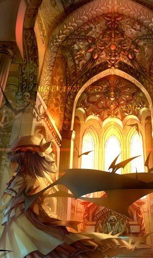 神殿と少女のiPhone壁紙 | 壁紙キングダム スマホ版