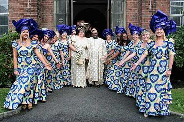 African Wedding In A Salford Church...