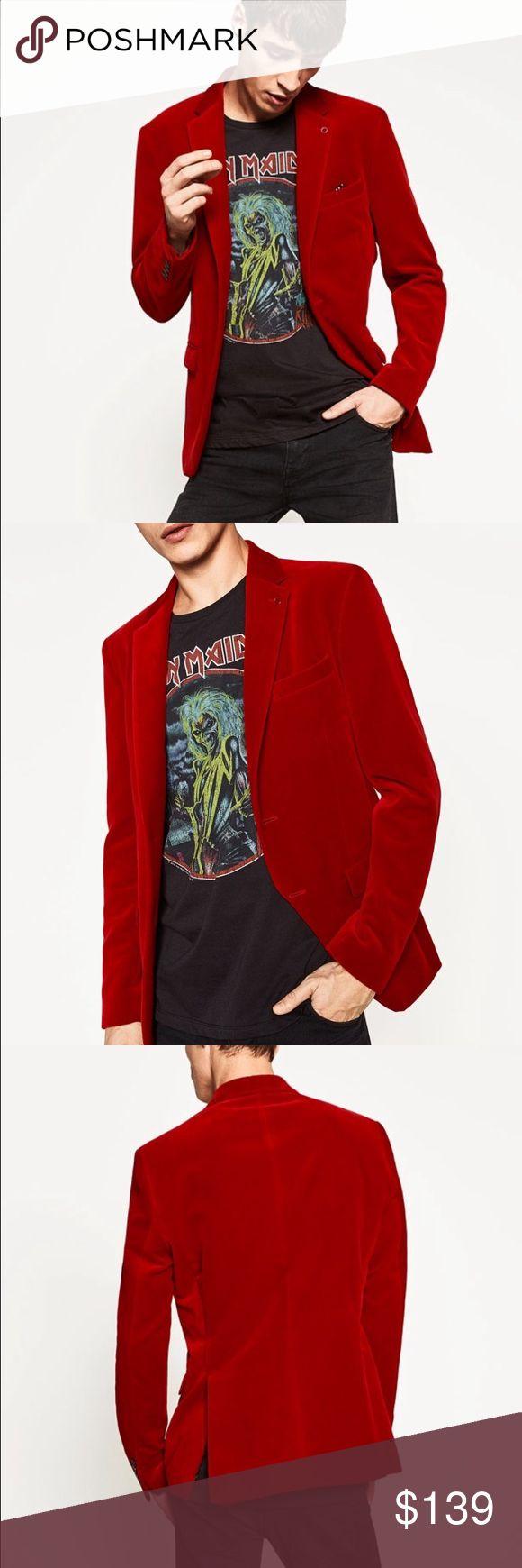 Zara men's velvet blazer Zara men's velvet blazer, perfect for NYE parties Zara Jackets & Coats