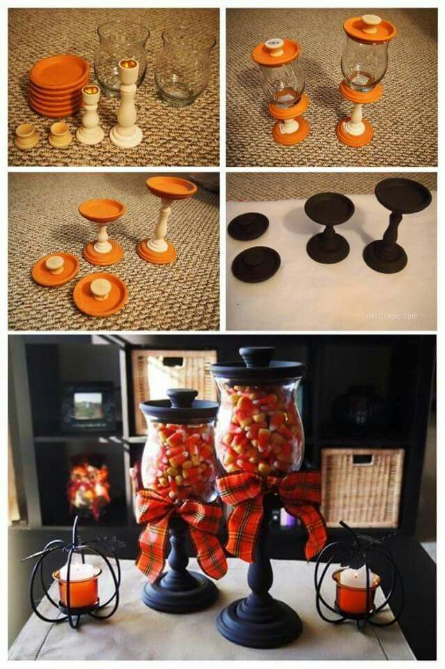Candy corn candlestick