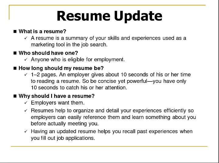 Wondering if you need a resume? The answer is YES! Upgrade your - how long should a resume be
