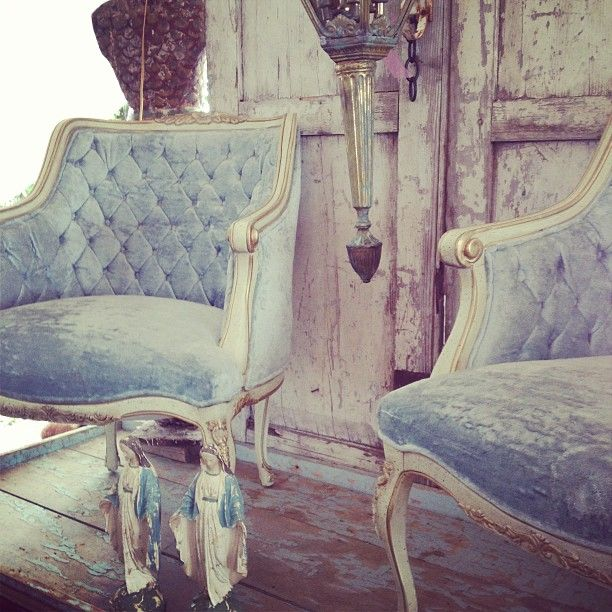 Powder blue princess chairs. Found them love them.
