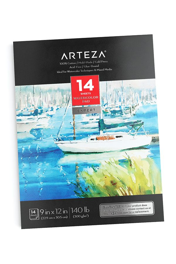 Grab This Cotton 9x12 Watercolor Pad And Let Your Imagination And