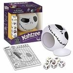Nightmare Before Christmas Yahtzee game Urban Collector is excited to offer the custom Nightmare Before Christmas edition of the popular game Yahtzee!  This Nightmare Before Christmas Collector's Edition Yahtzee game's custom dice feature favorite movie characters: Jack, Sally, Oogie Boogie, The Mayor, Evil Teddy and Zombie Duck! Includes custom score pad and a Jack Skellington dice cup which stores all components.    Nightmare Before Christmas Yahtzee game.  Secure your limited edition item…