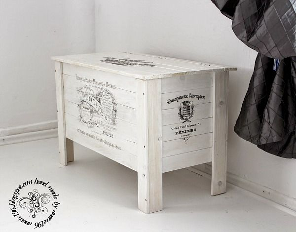 DIY French Storage Crate - Reader Feature - The Graphics Fairy