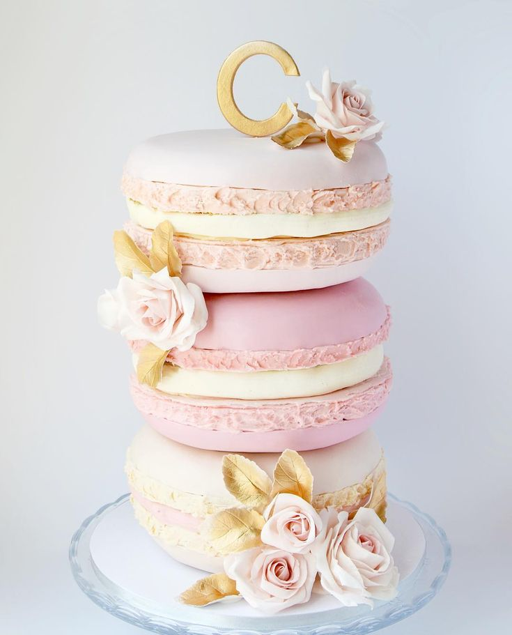 """308 Likes, 37 Comments - Catherine Beddall (@cbeddalledibleart) on Instagram: """"A stack of giant macarons makes a unique wedding cake - this was the bride's vision and I loved…"""""""