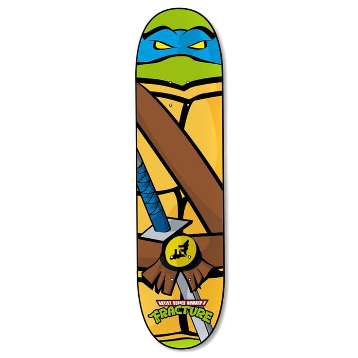 Fracture Turtle Skateboard Deck - 7.5 inch | Free UK Delivery