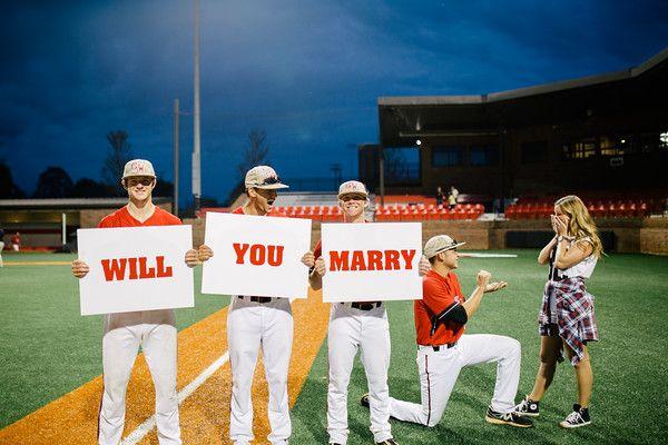 Carson + Brantley's Adorable Baseball Proposal on HowHeAsked!