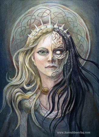 Bildresultat för gudinnan Hel