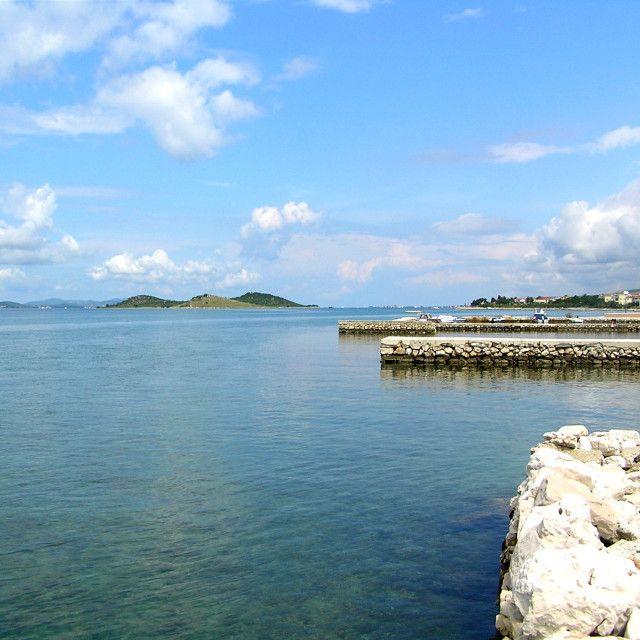 Turanj Galešnjak - island heart #bitifoto #Turanj #Galešnjak #sea #blue #sky #cloud #island #heart #Croatia #holidays #nature #ecology #piers #Dalmatia #peace #rest #perfect holiday #islandheart