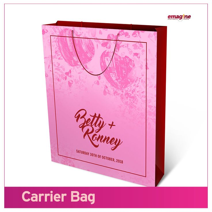 Make all of your guests leave your wedding with one of this carrier bag souvenir. Making it #aWeddingToRemember