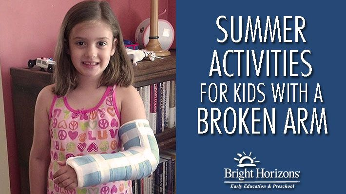 Summer Activities for Kids with a Broken Arm