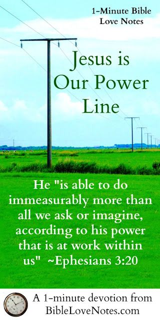 """""""Boom!""""  I jumped up and looked out the window at the pouring rain. ~ Had lightening struck our house?  ~ This 1-minute devotion talks about a power outage and how it applies to us spiritually."""