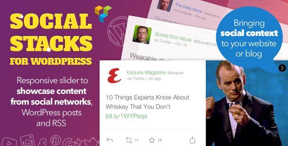 WordPress Social Stacks — Responsive Slider