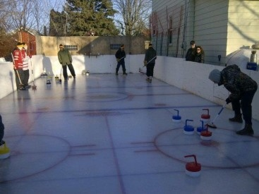 Backyard Curling!