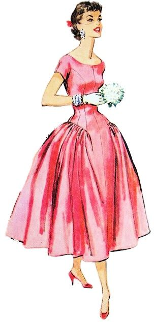i really like this one... it is aa classic 50's outfit sketch...