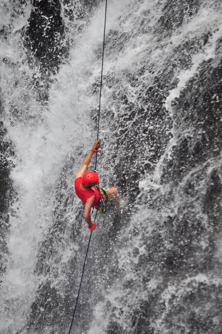 Waterfall Repelling | Costa Rica ✔ DONE  and will most likely do it again! So much fun!