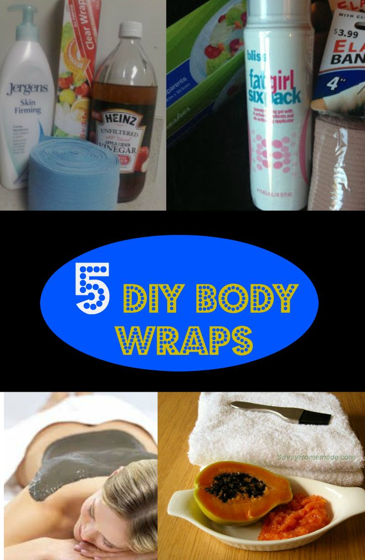 Can't afford to try expensive body wraps?  Well, that's not a problem ladies because you can always make your own.  Check out these DIY body wraps and lose a few inches in no time! 1.  DIY Body Wrap YOU WILL NEED: Bliss Fat Girl Six Pack from Sephora saran wrap/ace bandages INSTRUCTIONS! 2.  DIY Slimming …
